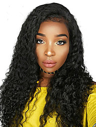 Lace Front Human Hair Wigs For Black Women Brazilian Remy Hair Natural Black Color Illusion Hairline
