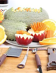 4Pcs/Set Crinkle Wavy Cutter And Melon Scoop Vegetable Carving Tool And Multifunctional  Peelers Zesters Opener And Manual Roller Spiral Slicer