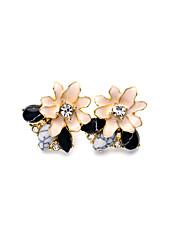 Boucles d'oreille goujon Original Mode Personnalisé Forme de Fleur Rose Bonbon Bijoux Pour Mariage Soirée 1 paire