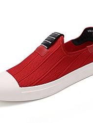 Herren-Loafers & Slip-Ons-Lässig-Chiffon-Flacher Absatz-Komfort-