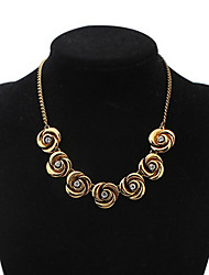 Rose Gold Euramerican Africa Rainbow Hypoallergenic Flower Statement Strands Collar Choker Rhinestone Necklaces