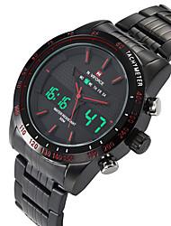 NAVIFORCE Pánské Sportovní hodinky Módní hodinky Náramkové hodinky Hodinky na běžné nošení Křemenný DigitálníKalendář Hodinky s dvojitým