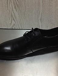 Men's Sneakers Spring Formal Shoes Cowhide Wedding Casual Brown Black