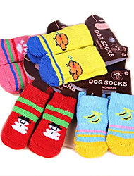 Cat Dog Socks Winter Spring/Fall Cute Casual/Daily Keep Warm Cartoon Random Color