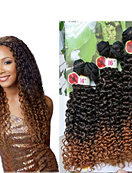 6pieces/pack synthetic deep curly weave 14 16 18inch afro kinky curly hair kanekalon bundles Jerry Curly Weave Hair Extension Sew in Synthetic wefts