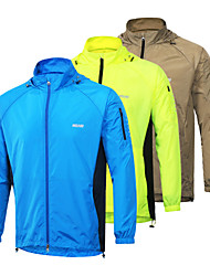 Arsuxeo Cycling Jacket Men's Bike Jacket Quick Dry Windproof Detachable Cap Lightweight Materials Reflective Strips Sunscreen Nylon