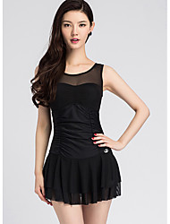 Women's Straped Cover-Up,Plunging Neckline Mesh Nylon Polyester