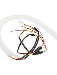 1 комплект 600 мм белый желтый двойной цвет с поворотным указателем поворота мягкий артикул лампа dc12v