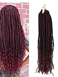 22inch synthetic crochet fauxlocs braids soft locs hair with curls ends faux locs croehet braiding kanekalon heat resistant fiber 6-8pcs make head 1pc
