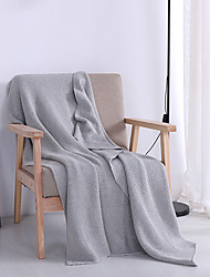 KnittedYarn-dyed Solid Cotton/Polyester Blankets