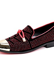 Men's Loafers & Slip-Ons Spring Club Shoes Novelty Suede Party & Evening Rhinestone Metallic toe