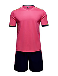 Men's Soccer Clothing Sets/Suits Breathable Quick Dry Summer Polyester Football/Soccer Blushing Pink Blue Red Navy Blue Yellow