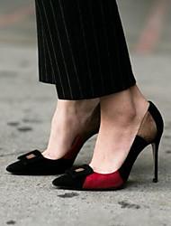 Женские каблуки летние slingback pu casual black