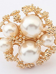 Euramerican Vintage Luxury Elegant Great Pearl Cuff Ring Movie Jewelry