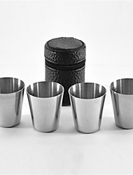 4Pcs/Set   Polished Mini 30Ml Stainless Steel Wine Drinking Shot Glasses Barware Cup