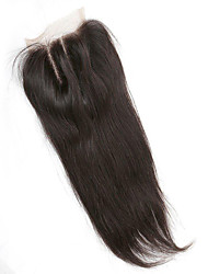 Brazilian silk straight  Bleached Knots Human Hair 130% Density 4x4 inchLace Closure