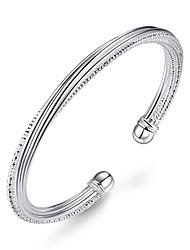 Femme Manchettes Bracelets Mode Plaqué argent Forme de Ligne Bijoux Pour Mariage Soirée Occasion spéciale Regalos de Navidad 1pc