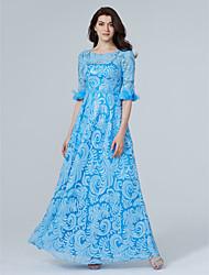 Funda / Columna Joya Hasta el Suelo Lentejuelas Evento Formal Vestido con Cuentas Flor(es) Lentejuelas por TS Couture®