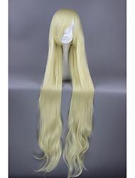 cosplay perruque Synthétique Sans bonnet Perruques Très long Jaune Cheveux