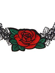 Жен. Ожерелья-бархатки Бижутерия Геометрической формы КружевоУникальный дизайн С логотипом Двойной слой Multi-Wear способы Простой стиль