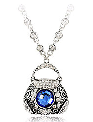 Women's Pendant Necklaces Alloy Bag Euramerican Fashion Vintage Silver Jewelry For Party Birthday 1pc