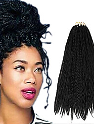 Box Braids Twist Braids Dark Black Hair Braids 24Inch Kanekalon 90g Synthetic Hair Extensions