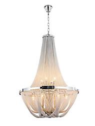 Aluminum Stream Chandeliers,  E12/E14/Designer Pendant Lights/Silver or Gold/Living Room/ Stainless