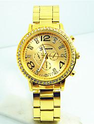 Women's Men's Unisex Fashion Watch Quartz Alloy Band Casual Silver Gold Rose Gold