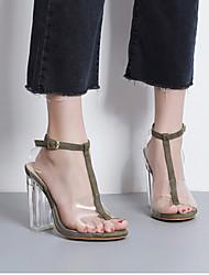 Mulheres sapatos t-strap leatherette casuais marrom
