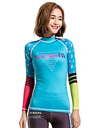 Women's Wetsuit Top Breathable Quick Dry Anatomic Design Terylene Diving Suit Long Sleeve Tops-Diving Spring Summer Fashion