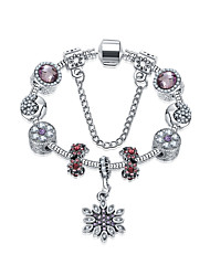 Women's Charm Bracelet Friendship Fashion Alloy Round Flower Jewelry For Anniversary Gift Valentine Christmas Gifts 1pc