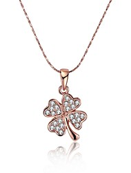 Women's Pendant Necklaces Chain Necklaces AAA Cubic Zirconia Geometric Zircon Copper Silver Plated Gold Plated Rose Gold Plated Tin Alloy