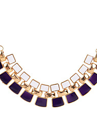 Women's Statement Necklaces Square Acrylic Unique Design Geometric Jewelry For Party Daily Casual 1pc