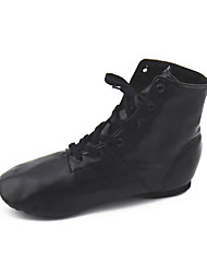 Non Customizable Women's Dance Shoes Leather Jazz Boots Flat Heel Performance