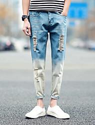 Homme Street Chic Taille Normale strenchy Jeans Pantalon,Ample Toile de jean Couleur Pleine