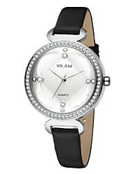 Vilam Women's Fashion Watch Water Proof Leather Band Charm Luxury  Lady's Wrist watch Crystal Diamond Girls Casual Watch