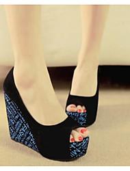 Sandales pour femmes printemps confort pu casual bleu noir