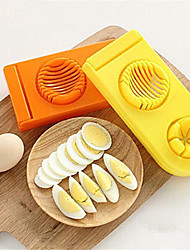 1 Pcs 2 In 1 Egg Cutter Stainless Steel And  Abs Colorful Egg Mold Slicer Multifunction Kitchen Egg Slicer  Mold  Random  Color