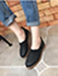 Tacco delle donne comfort nero sintetico di mandorle casual