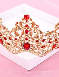 Rhinestone Alloy Headpiece-Wedding Special Occasion Tiaras 1 Piece