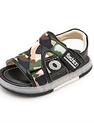 Boys' Sandals Summer Light Up Shoes Fabric Casual Flat Heel