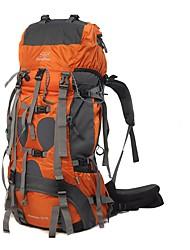 75 L рюкзак Заплечный рюкзак Многофункциональный Оранжевый