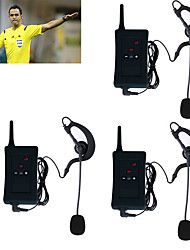 3Pcs 2017 Vnetphone Motorcycle Intercom Full Duplex Bluetooth Referee Interphone Headsets