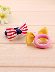 Children Bowknot Towel Ring Lovely Baby Hair Ring Hair Rope Elastic Mixed Color Treasure Delivery 10 PCS