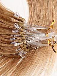 22 pouces micro boucle remy extensions de cheveux humains style droit 0.5g / s cheveux humains micro anneaux extensions 100s / pack 50g