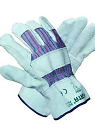 Star gloves L economical half leather working gloves industrial protective work gloves