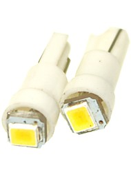 Sencart 2 x Car T5 2835 SMD Dashboard Blue / Green / Red / White / Yellow / Warm White / Pink 1-LED bulbs light lamp 74 37 286 18 27 DC12V