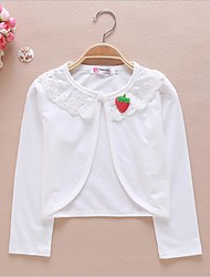 Girls' White/Pink Long Sleeve Cardigan Jacket (1-12 T)
