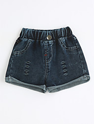 Girls' Casual/Daily Solid Shorts-Cotton Summer