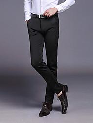 Men's Low Rise Micro-elastic Business Pants,Street chic Slim Skinny Solid